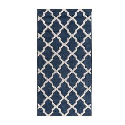 Dywan Cottage blue/ wool 67x130cm