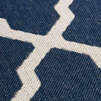 Vloerkleed Cottage blue/ wool 160x230cm