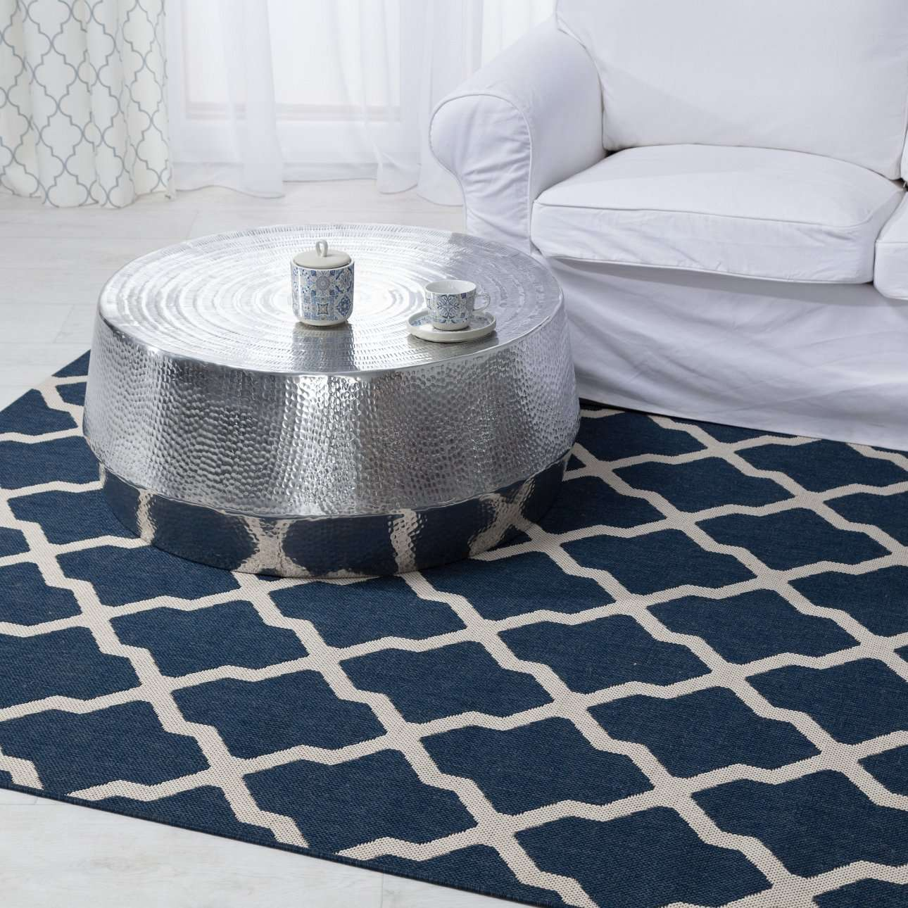 Teppich Cottage blue/ wool 160x230cm