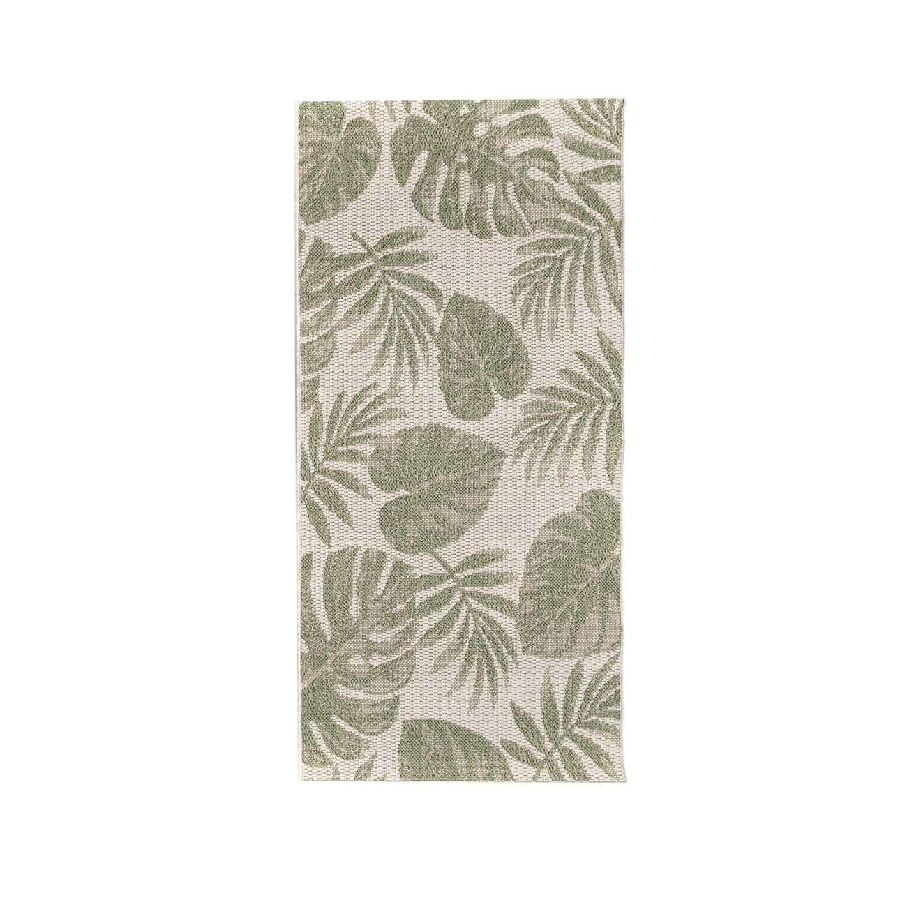 TRENDY koberec Cottage wool/ jungle green 67x130cm