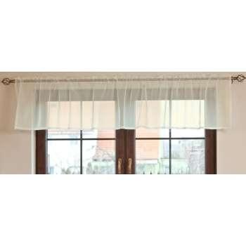 Vitrage függöny méteráru, 50 cm magas + 2,5 cm rüssel, fehér  - Dekoria.hu