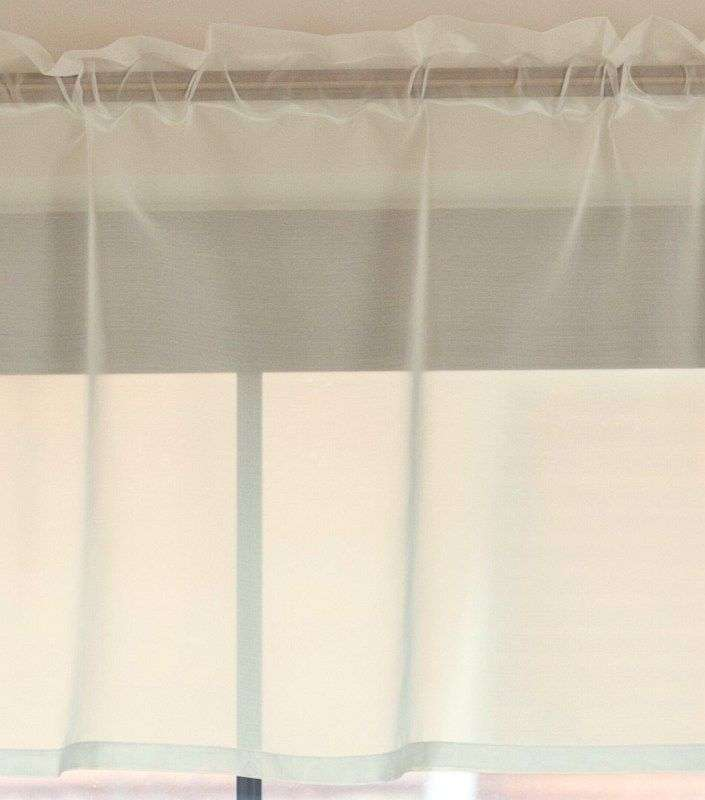 Lambrekin voálový na metry - výška 50 cm + 2,5 cm volánek výška 50 cm + 2,5 cm volánek v kolekci Voile - Voál, látka: 900-01
