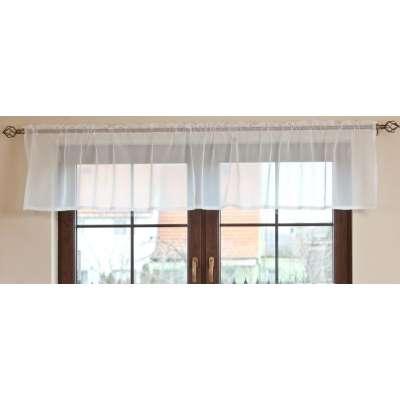 Vitrage függöny méteráru, 50 cm magas + 2,5 cm rüssel, fehér