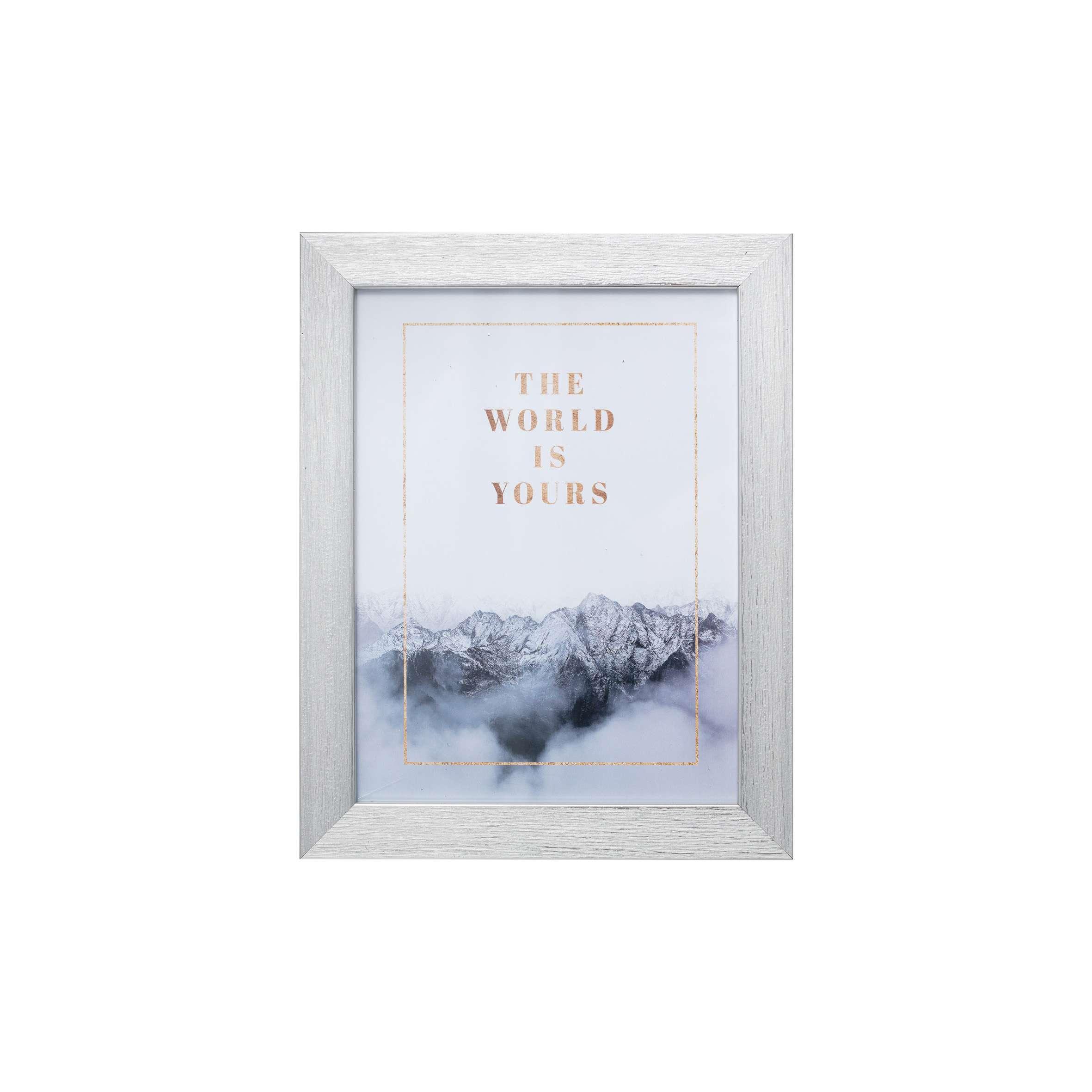 Fotorahmen Simple Silver 18x24cm, 18 × 1,3 × 24 cm | Dekoration > Bilder und Rahmen | Kunststoff | Dekoria