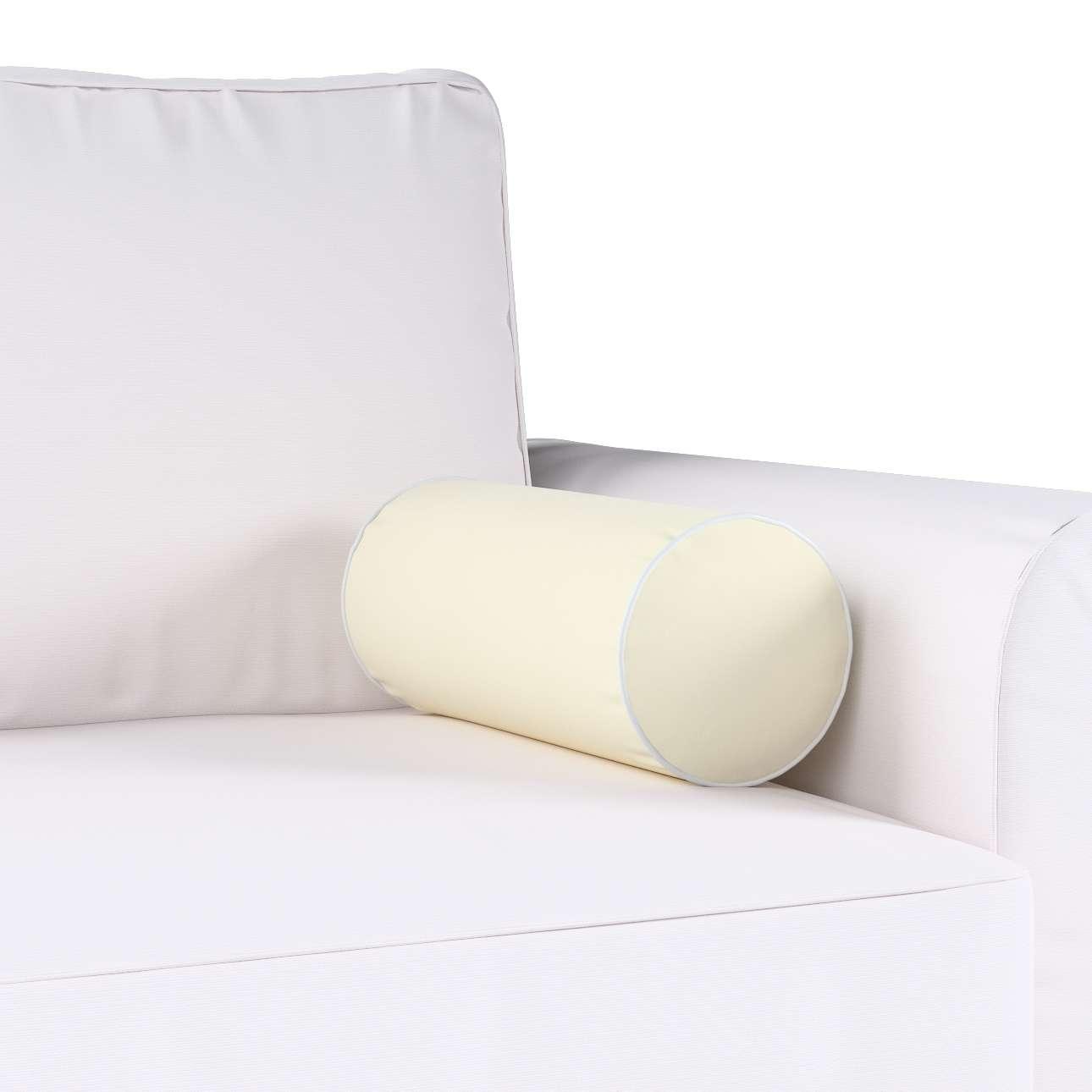 Poduszka wałek prosty z lamówką w kolekcji Velvet, tkanina: 704-10