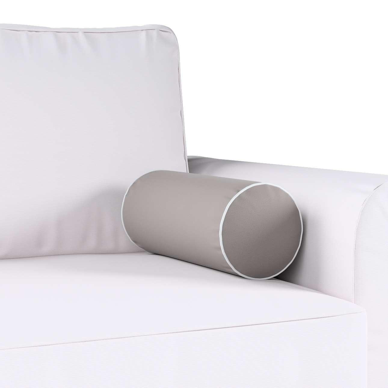 Poduszka wałek prosty z lamówką w kolekcji Velvet, tkanina: 704-11