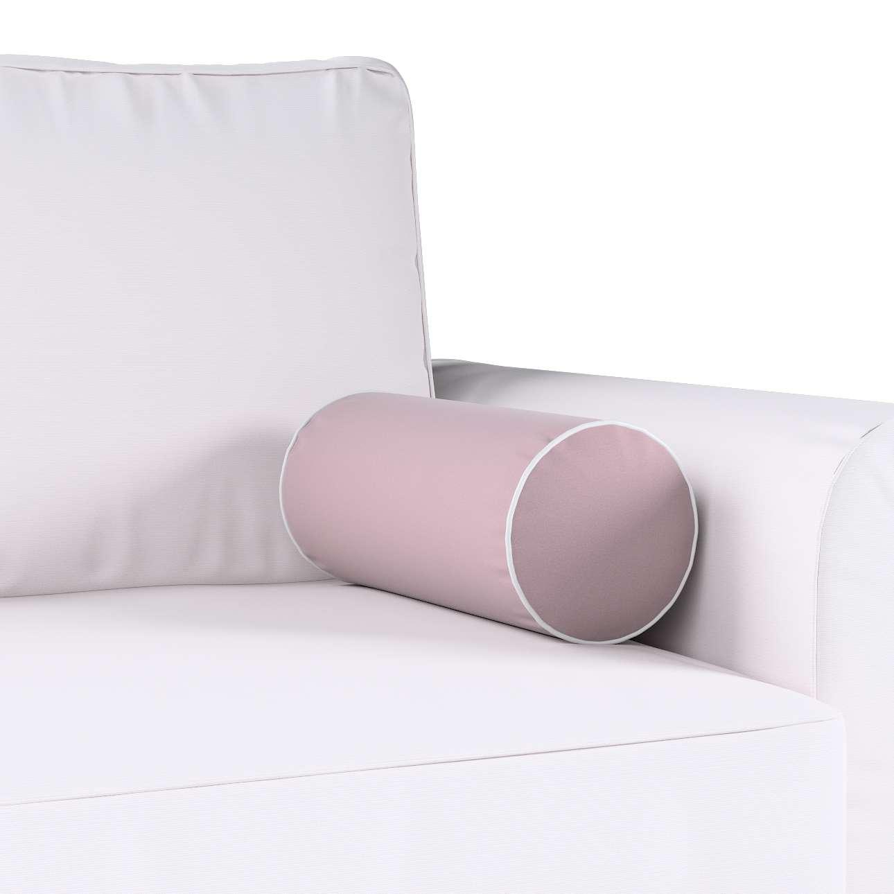 Poduszka wałek prosty z lamówką w kolekcji Velvet, tkanina: 704-14