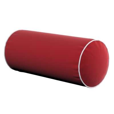 Velvety bolster with piping 704-15 cherry red Collection Velvet