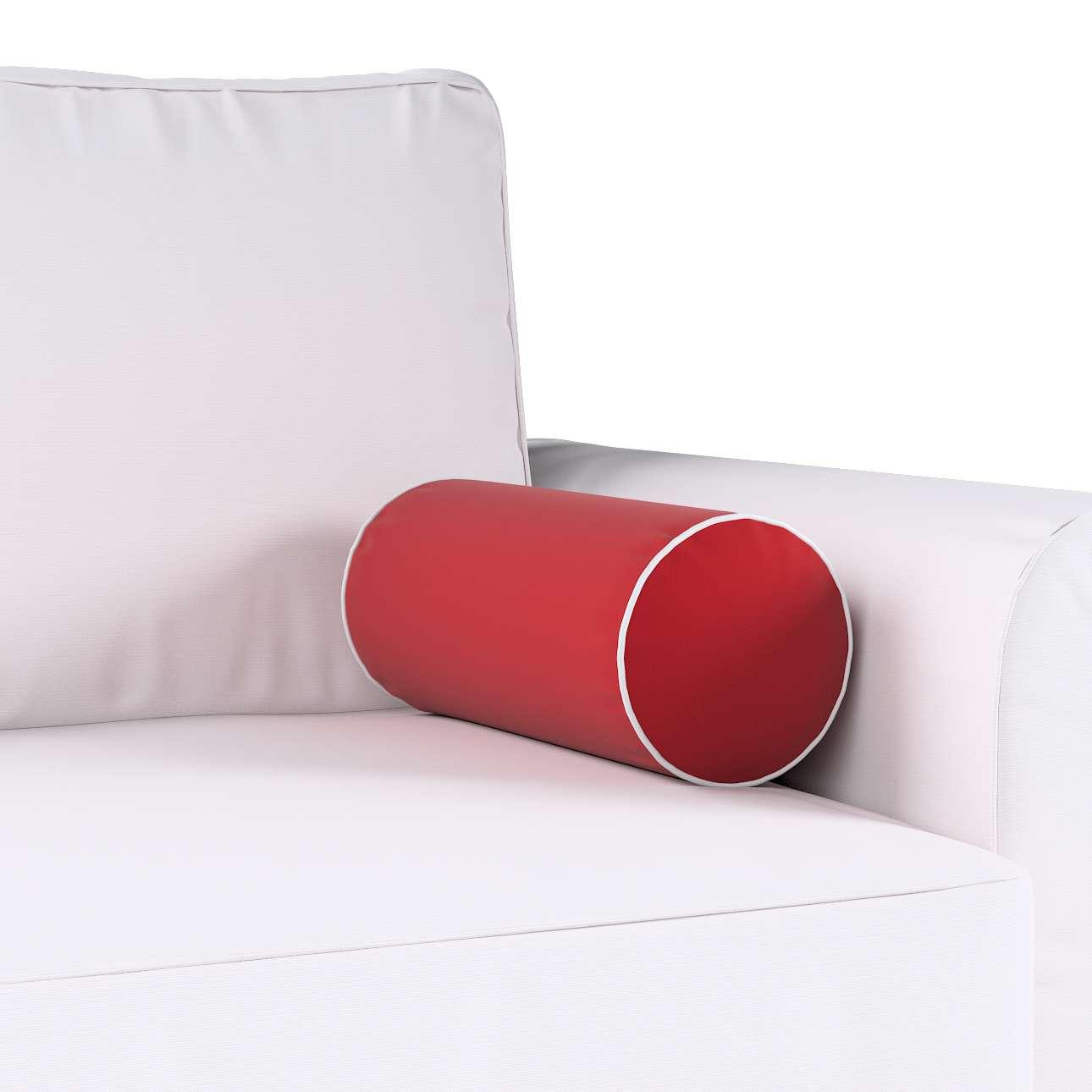 Poduszka wałek prosty z lamówką w kolekcji Velvet, tkanina: 704-15