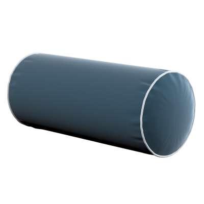 Velvety bolster with piping 704-16 dark blue Collection Velvet