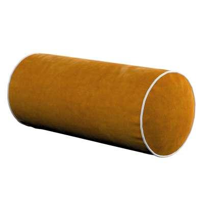 Velvety bolster with piping 704-23 mustard Collection Velvet