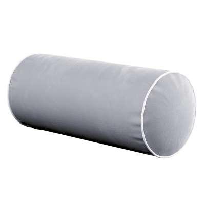 Einfache Nackenrolle mit Einfassband 704-24 grau Kollektion Velvet