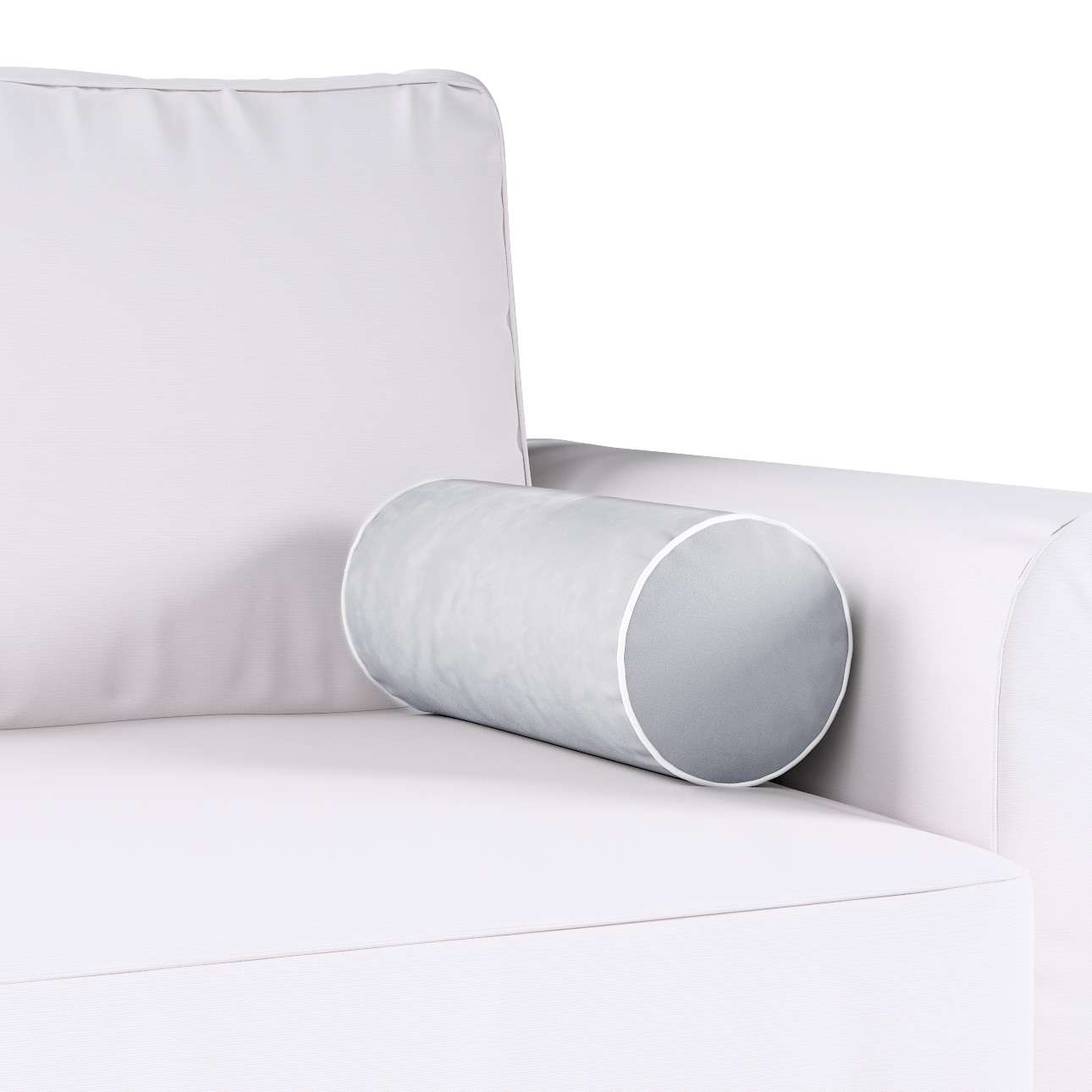 Poduszka wałek prosty z lamówką w kolekcji Velvet, tkanina: 704-24