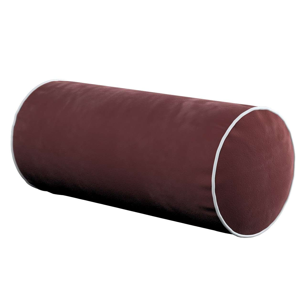 Poduszka wałek prosty z lamówką w kolekcji Velvet, tkanina: 704-26