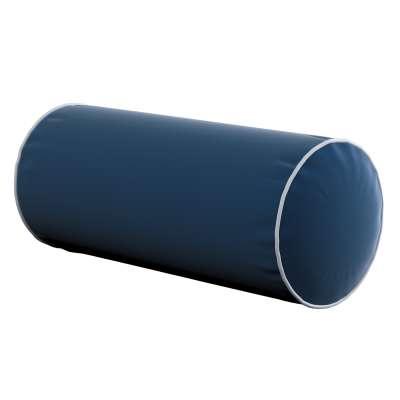Einfache Nackenrolle mit Einfassband 704-29 dunkelblau Kollektion Velvet