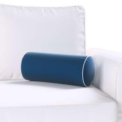 Poduszka wałek prosty z lamówką w kolekcji Velvet, tkanina: 704-29