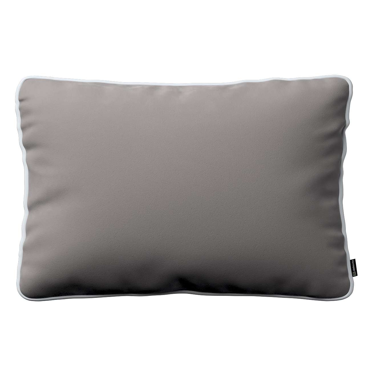 Laura rectangular velvet cushion cover with piping in collection Velvet, fabric: 704-11