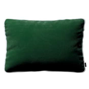Laura rectangular velvet cushion cover with piping in collection Velvet, fabric: 704-13