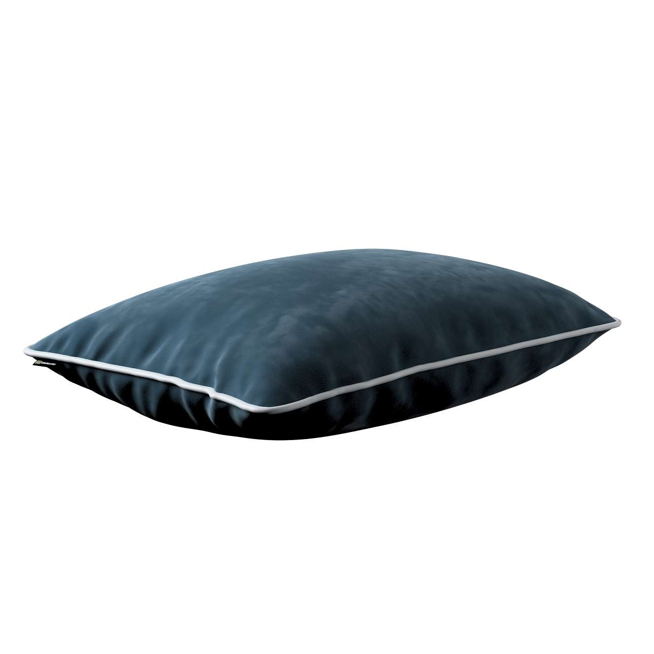 Laura rectangular velvet cushion cover with piping in collection Velvet, fabric: 704-16