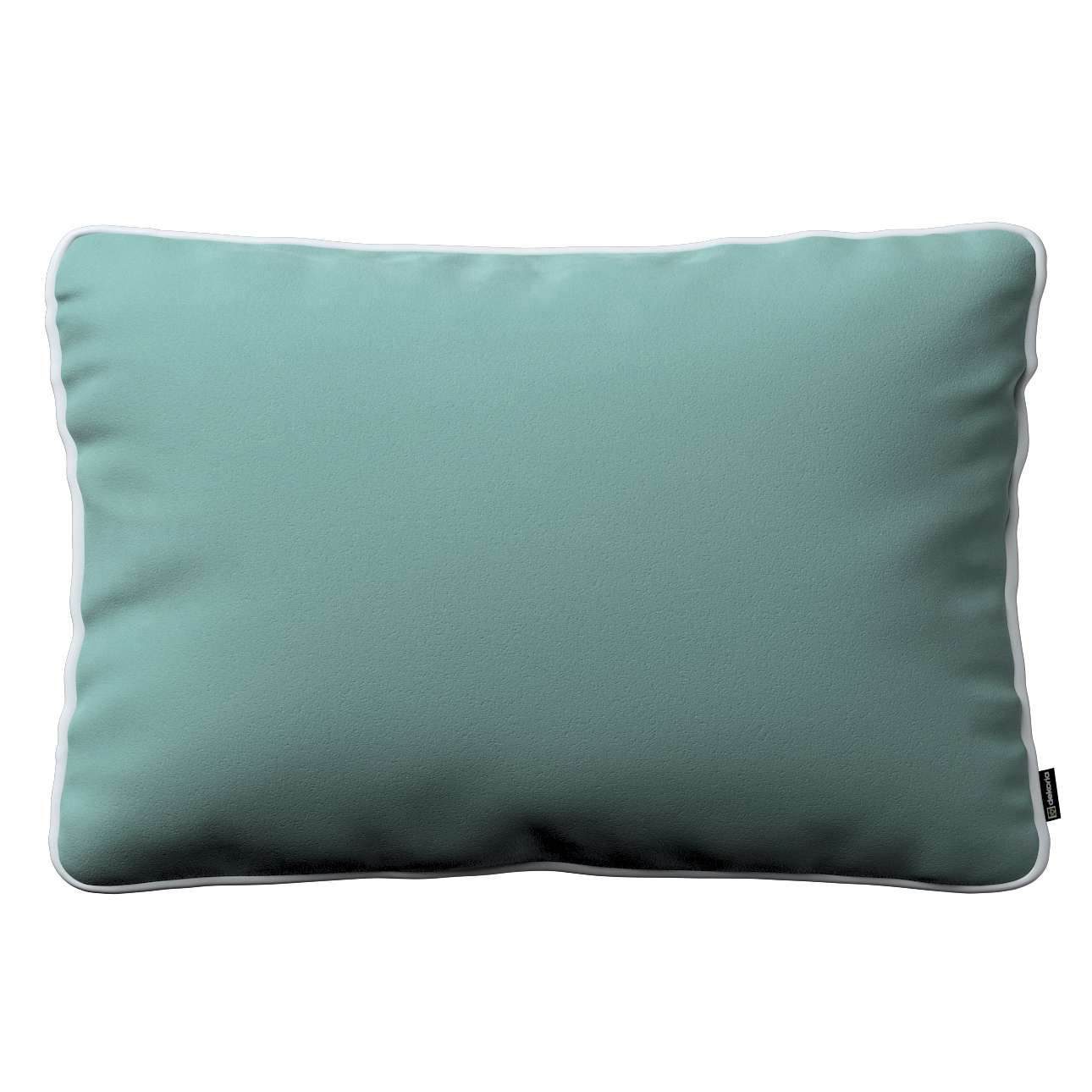 Laura rectangular velvet cushion cover with piping 60×40cm in collection Velvet, fabric: 704-18