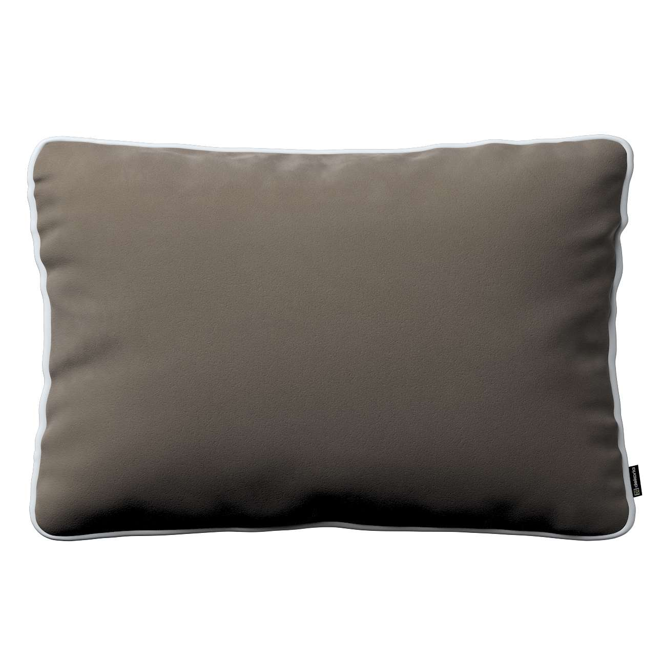 Laura rectangular velvet cushion cover with piping in collection Velvet, fabric: 704-19