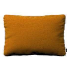 Laura rectangular velvet cushion cover with piping