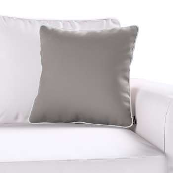 Laura square velvet cushion cover with piping in collection Velvet, fabric: 704-11