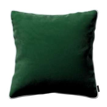 Laura square velvet cushion cover with piping