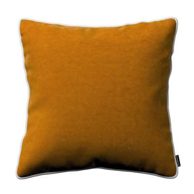 Laura square velvet cushion cover with piping 704-23 Collection Velvet