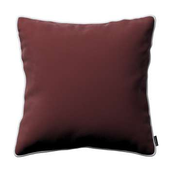 Laura square velvet cushion cover with piping in collection Velvet, fabric: 704-26
