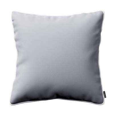 Bella velvet cushion cover with piping 704-24 grey Collection Posh Velvet