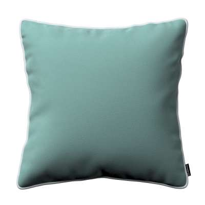 Bella velvet cushion cover with piping 704-18 dusty mint green Collection Posh Velvet