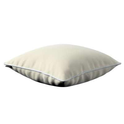 Bella velvet cushion cover with piping 704-10 creamy white Collection Posh Velvet