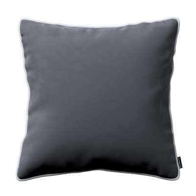 Bella velvet cushion cover with piping 704-12 graphite grey Collection Posh Velvet