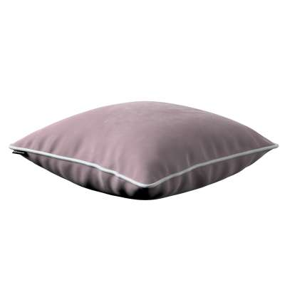 Bella velvet cushion cover with piping 704-14 dusty pink Collection Posh Velvet