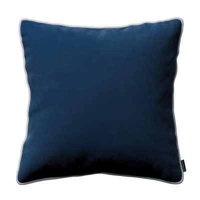 Bella velvet cushion cover with piping 704-29 navy blue Collection Posh Velvet