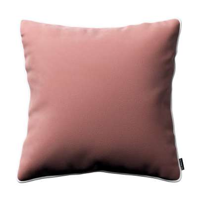 Bella velvet cushion cover with piping 704-30 coral Collection Posh Velvet