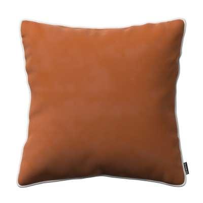 Dekoratyvinės pagalvėlės užvalkalas Laura  704-33 ruda-plytų spalva Kolekcija Velvetas/Aksomas
