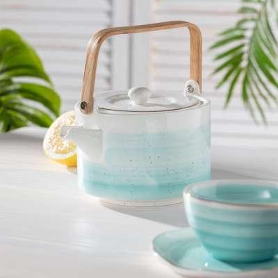 Teekanne Artesanal blue 800ml Tee- & Kaffeekannen - Dekoria.de