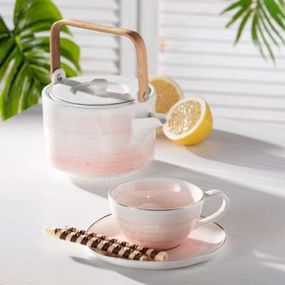 Tasse mit Untertasse Artesanal rose 250ml