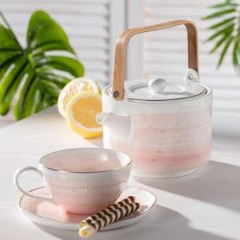 Porcelánový šálek s podšálkem Artesanal rose 250ml