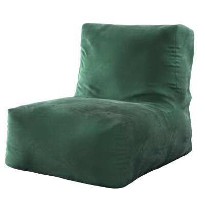 Sedací vak v tvare kresla - jednofarebný 704-25 tmavo - zelená Kolekcia Velvet