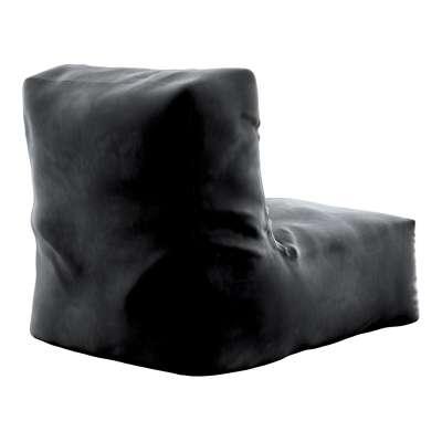 Puf-křeslo Poppy 704-17 tmavě černá Kolekce Posh Velvet