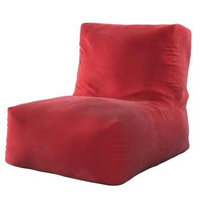 Poppy pouf-chair 704-15 cherry red Collection Posh Velvet