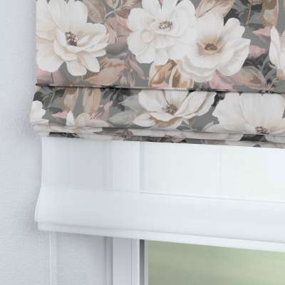 DUO Rímska roleta 142-13 svetlé kvety na sivom podklade so svetlo ružovou a béžovou Kolekcia Gardenia