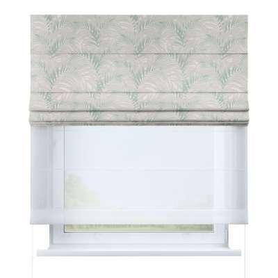 Vouwgordijn Duo 142-15 wit-groen Collectie Gardenia