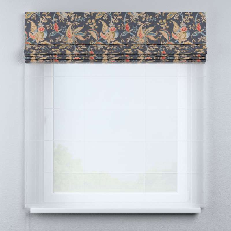 Voile and fabric roman blind (DUO II) in collection Gardenia, fabric: 142-19