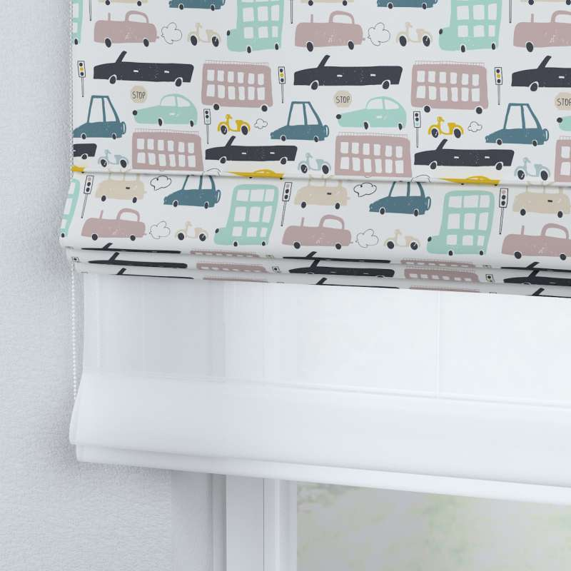 Voile and fabric roman blind (DUO II) in collection Magic Collection, fabric: 500-02