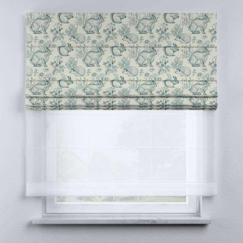 Voile and fabric roman blind (DUO II) in collection Magic Collection, fabric: 500-04