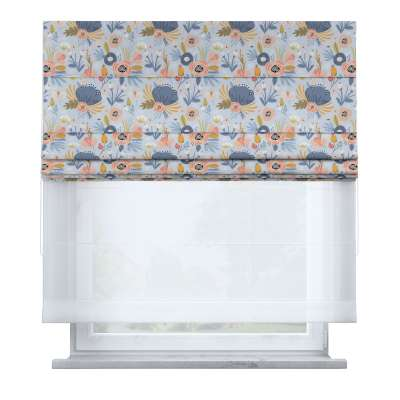 Voile and fabric roman blind (DUO II) 500-05  Collection Magic Collection